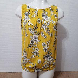 Ann Taylor LOFT top Medium floral sleeveless sunny